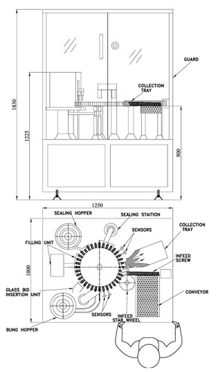 Healthcare Industry Dental Cartridge Filling Machine